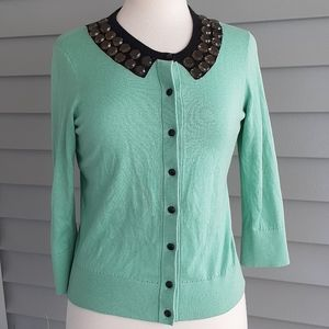 Kate Spade mint green and black sweater